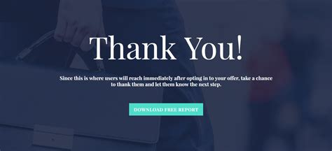 Simple and Pleasing Thank You Page Template – Ultimate