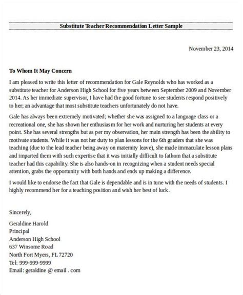 FREE 27+ Recommendation Letter Templates in MS Word | PDF