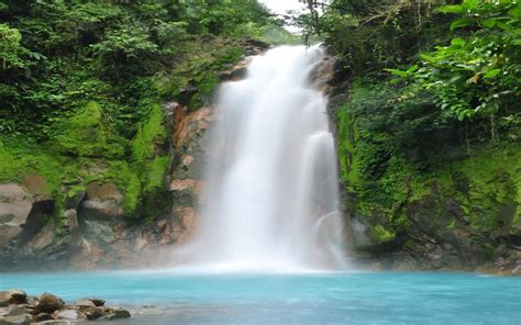 Blue Waterfall Costa Rica : Wallpapers13