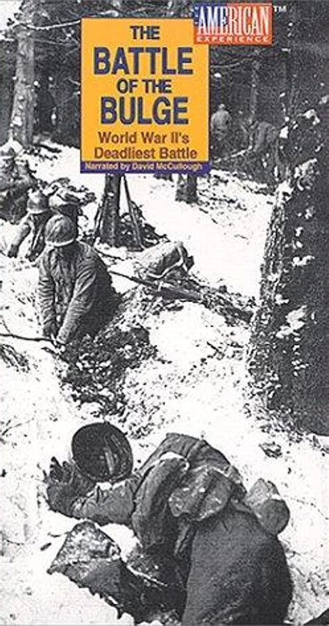 """""""American Experience"""" The Battle of the Bulge: World War"""