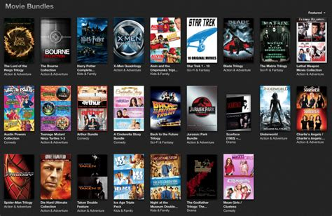 iTunes movie bundles offer some great savings on popular
