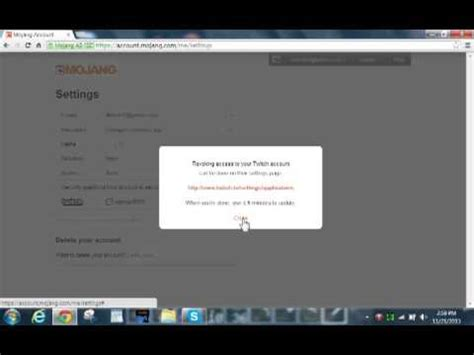 How to link your mojang account to twitch tv toutorial for