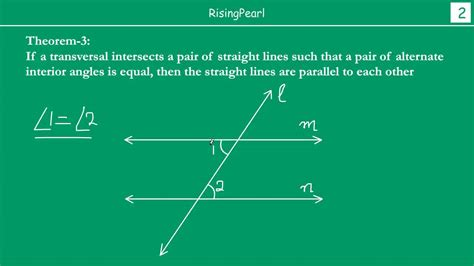 Alternate interior angles equal means Parallel lines