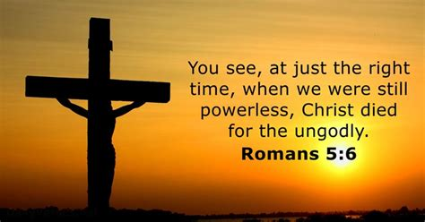 Romans 5:6 - Bible verse of the day - DailyVerses