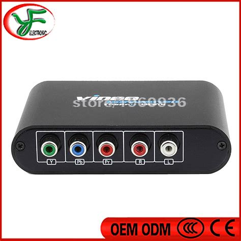 PS2 XBOX 5 RCA Component to HDMI Converter RGB YPbPr to