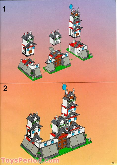 LEGO 6093 Flying Ninja Fortress Set Parts Inventory and