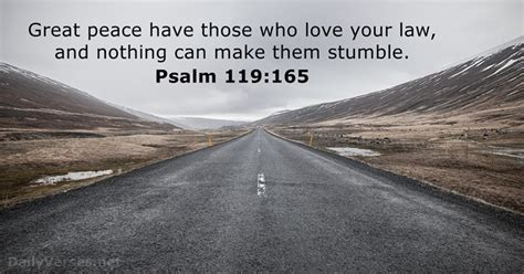 Psalm 119:165 - Bible verse of the day - DailyVerses