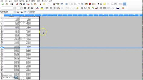 How to insert page break in Libreoffice Calc v5 - YouTube