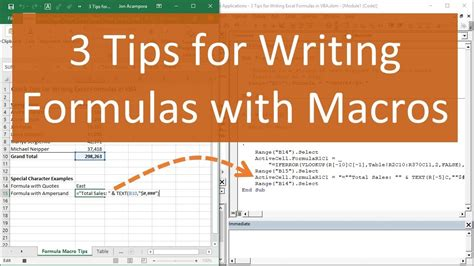 3 Tips for Writing Formulas with VBA Macros in Excel - YouTube