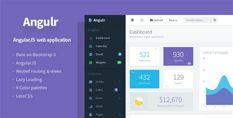 Angulr - Bootstrap Admin Web App with AngularJS by