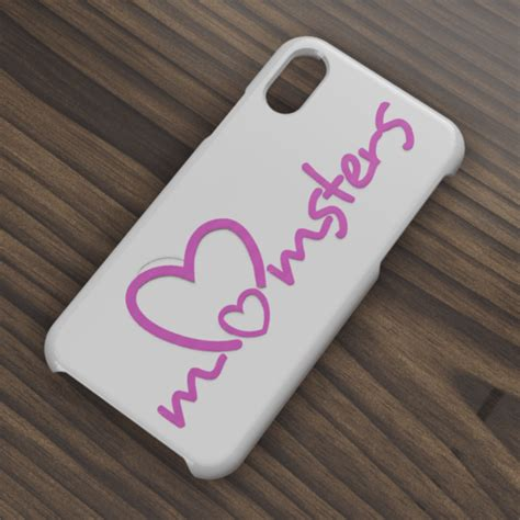 Download STL file Case Iphone X/XS Momsters • 3D printer