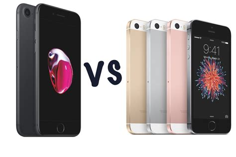 Apple iPhone 7 vs iPhone SE: What's the difference