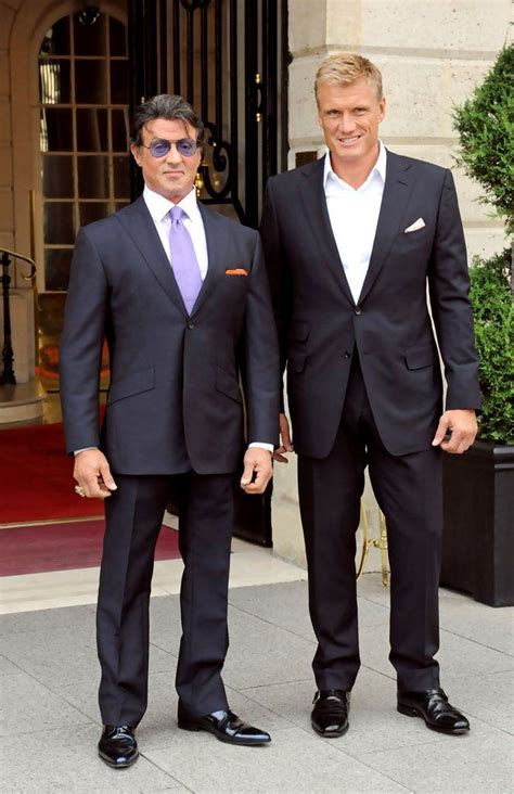 Sylvester Stallone and Dolph Lundgren at the Ritz Hotel in