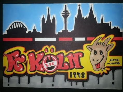 Drawing Graffiti Letters - First Football Club Cologne - 1