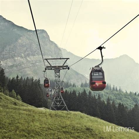 Items similar to Cable Cars- Gondola in the Swiss Alps