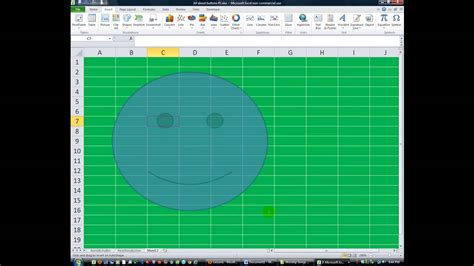 Excel VBA ActiveX 12 SMILEY FACE Button on Worksheet - YouTube