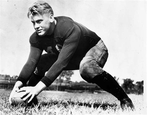 File:Gerald Ford on field at Univ of Mich, 1933