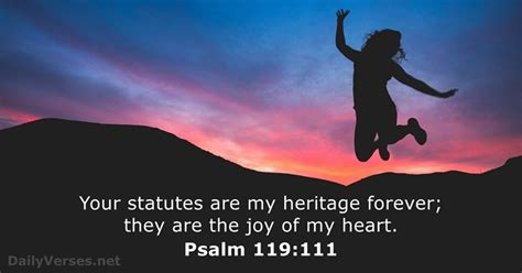 Psalm 119:111 - Bible verse of the day - DailyVerses