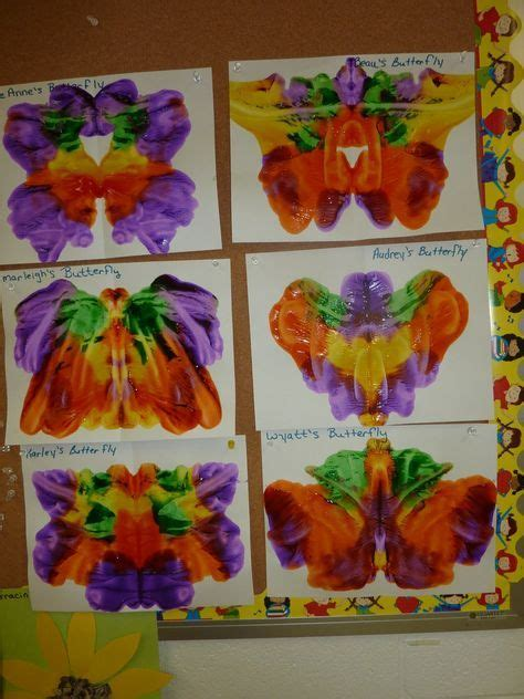 """pressed butterfly art along with """"the very hungry"""
