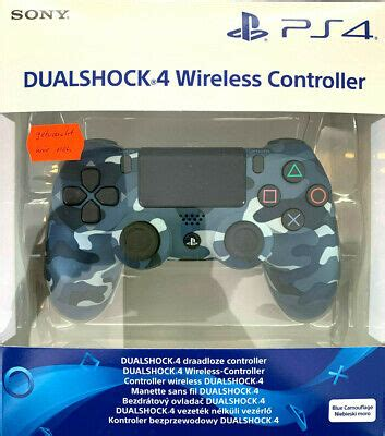SONY PLAYSTATION 4 Ps4 Controller Blue Camouflage Army NEU