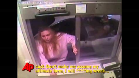 Crazy Woman Attacks McDonald Employees because of Chicken