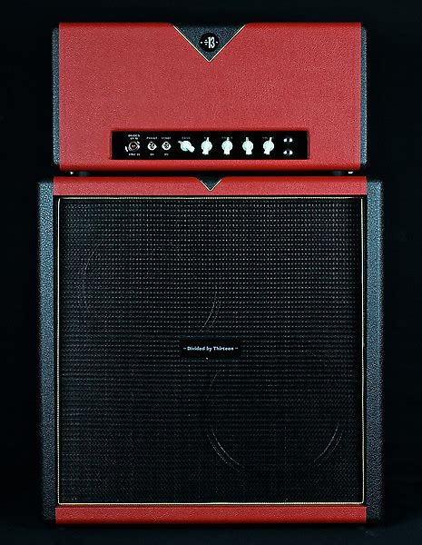 Divided By 13 AMW 39 Head & 2x12D Cabinet - Red & | Reverb