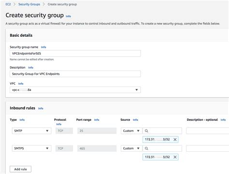 New – Amazon Simple Email Service (SES) for VPC Endpoints