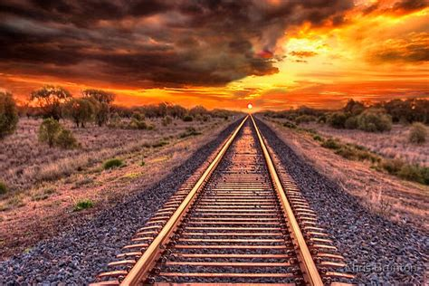 """""""Train track to sunset"""" by Chris Brunton 