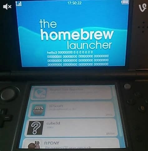 3DS can launch homebrew through the official YouTube app
