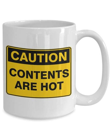 Caution contents are hot funny coffee mug christmas gift