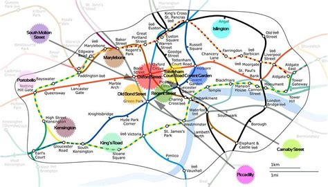 london attractions map   Shopping Map - How the Shopping